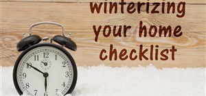 Fall is Almost Here: Time to Winterize Your Home