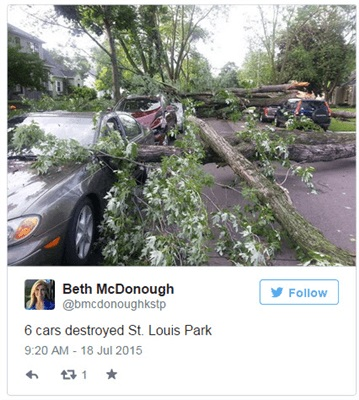 Power Outages And Storm Damage Across Twin Cities