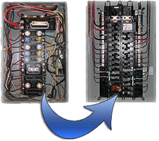 tips to help homeowners transition from a fuse box to a circuit rh harrison electric com fuse box to breaker convert fuse box to circuit breaker